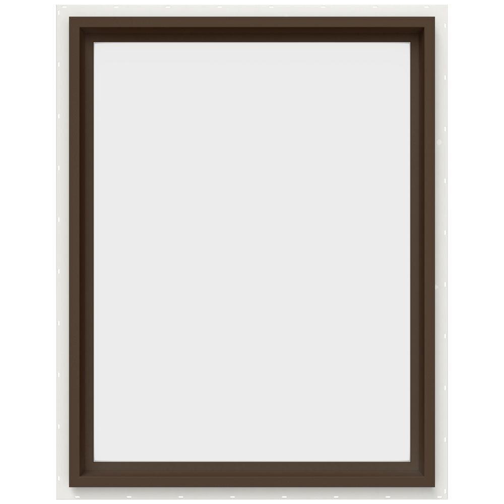 JELD-WEN 29.5 in. x 35.5 in. V-4500 Series Fixed Picture Vinyl Window in Brown