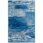 Adirondack Silver/Blue 3 ft. x 4 ft. Area Rug