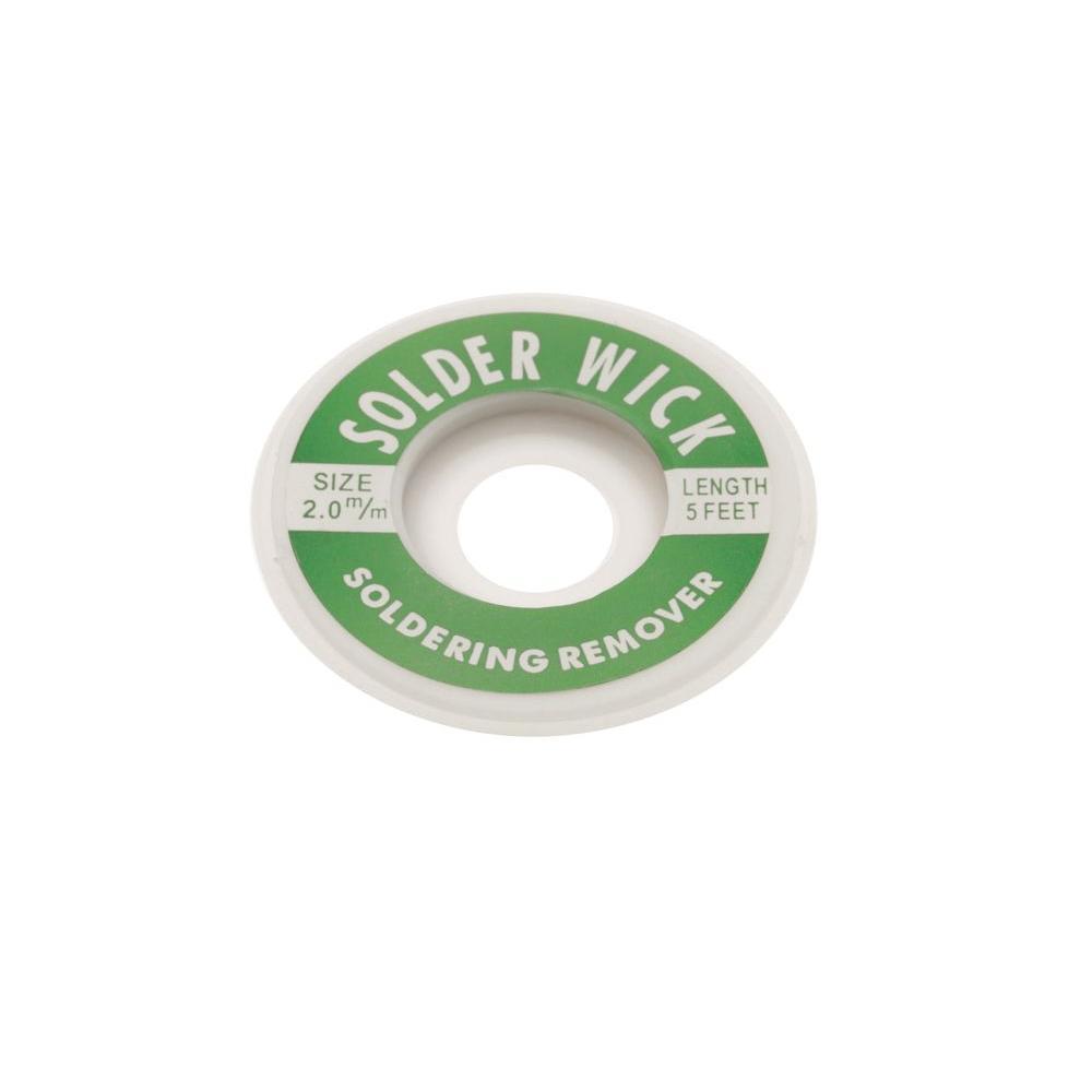 Aven 2 Mm Desoldering Wick 17541 The Home Depot Soldering Iron 70 Watt Lead Heat Sponge Flux Electronics Pcb Circuit