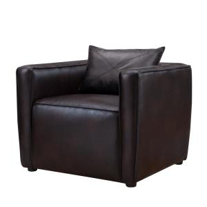 Absalon Brown Low-Back Accent Chair