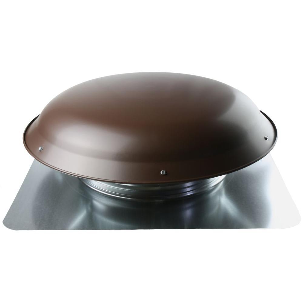 1400 CFM Brown Galvanized Steel Power Attic Roof Ventilator