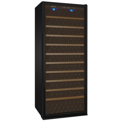 Vite II Tru-Vino Single Zone 277-Bottle Black Right Hinge Wine Refrigerator