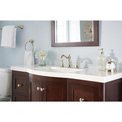 Cassidy 8 in. Widespread 2-Handle Bathroom Faucet with Metal Drain Assembly in Polished Nickel