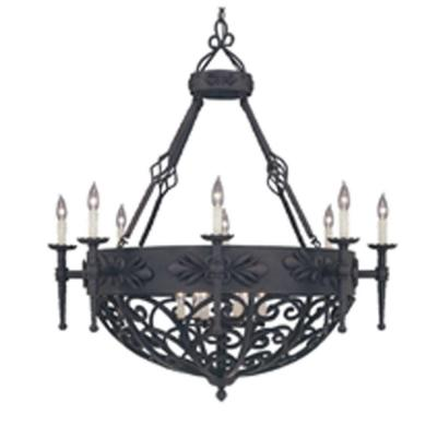 Alhambra 14-Light Natural Iron Hanging Pendant