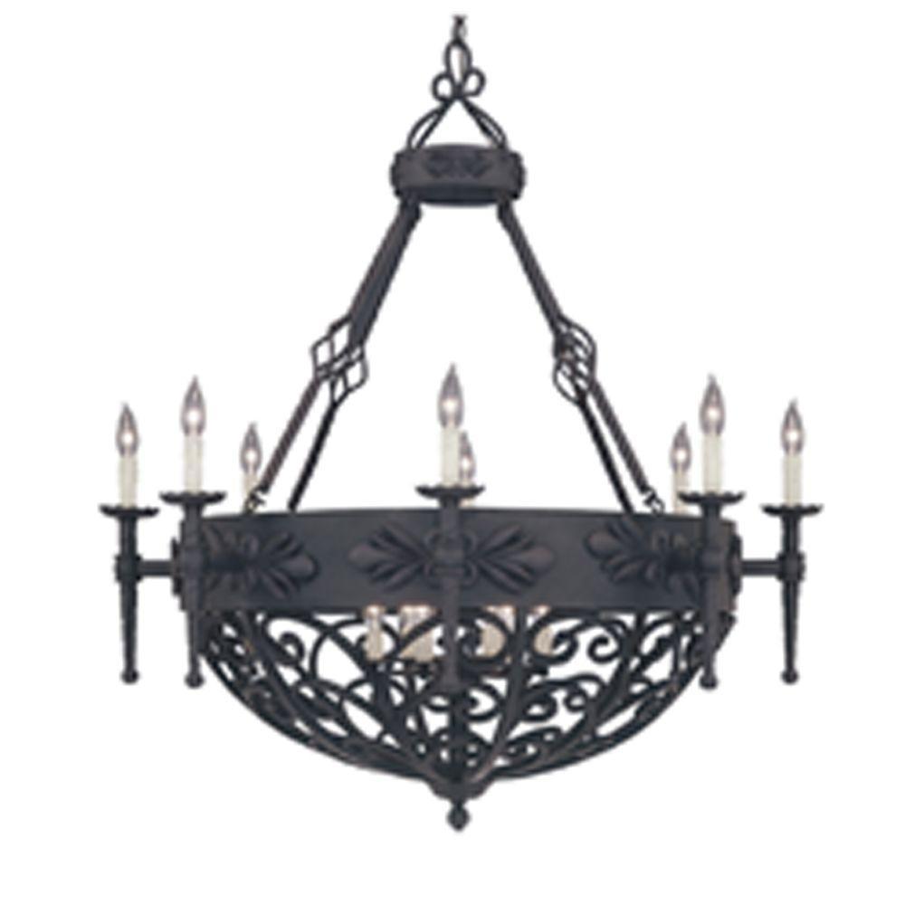 Florence 14-Light Natural Iron Hanging Pendant