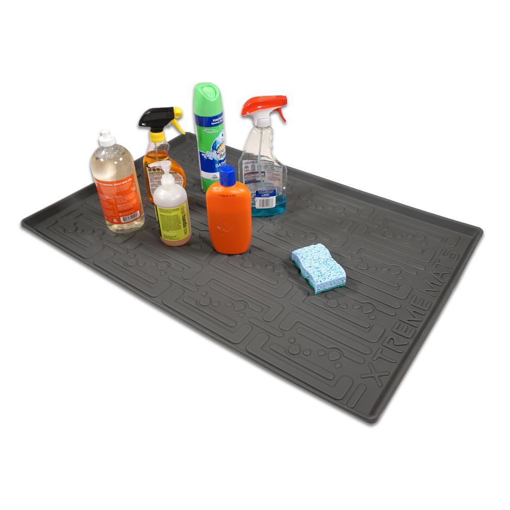 Xtreme Mats 37 In X 22 Grey, Kitchen Cabinet Shelf Liner Home Depot