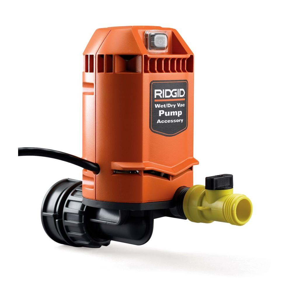 RIDGID Quick Connect Pump Accessory For RIDGID Wet Dry Vacs