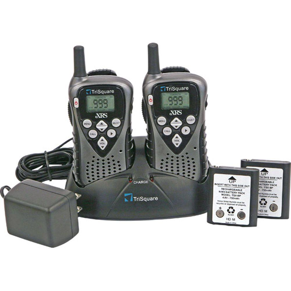 TriSquare 25 Mile 1,000 Channel 2-Way Radio 2 pack-DISCONTINUED