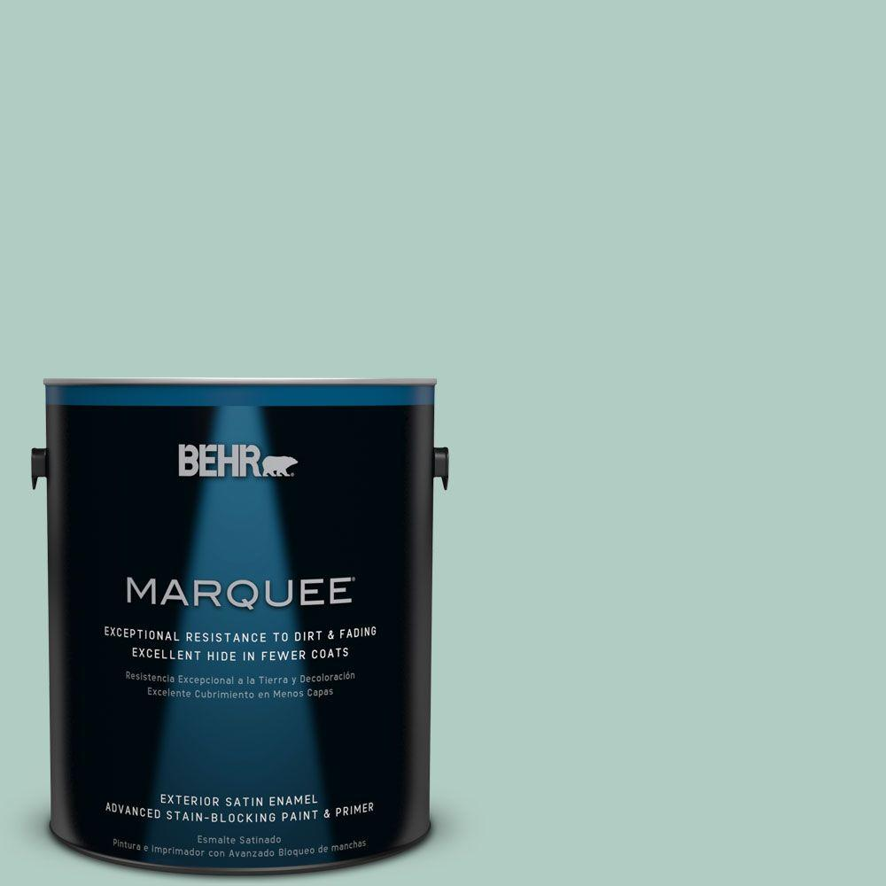 1-gal. #M430-3 Wintergreen Dream Satin Enamel Exterior Paint
