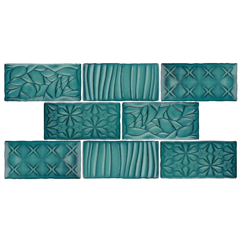 Antic Sensations Lava Verde 3 in. x 6 in. Ceramic Wall Tile (1 sq. ft. / pack)