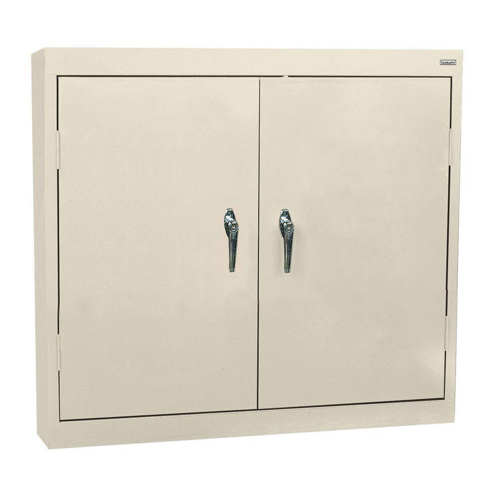 Sandusky 30 in. H x 36 in. W x 12 in. D Steel Wall Cabinet in Putty