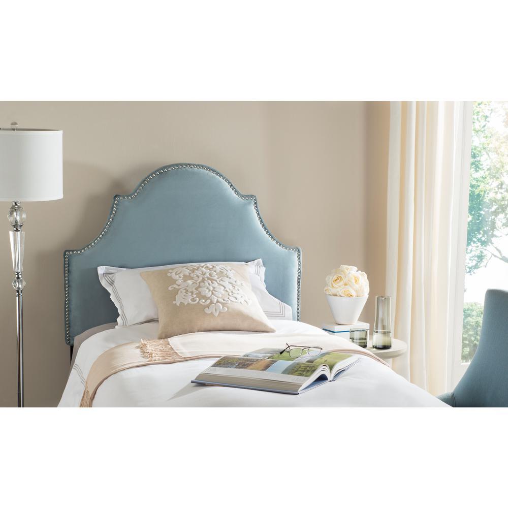 Safavieh hallmark wedgwood blue queen headboard