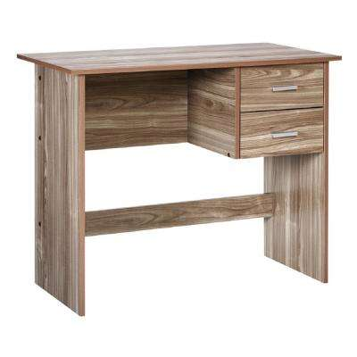 Adina Walnut Writing Desk with 2-Drawers