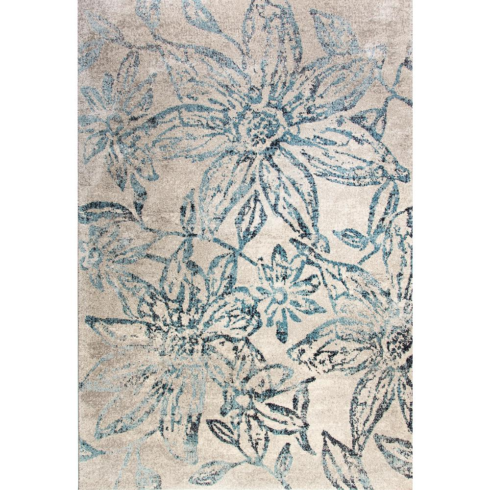 Woolrich Blue And White Floral Rug: Dynamic Rugs Fusion Floral Blue/Grey 8 Ft. X 11 Ft. Indoor