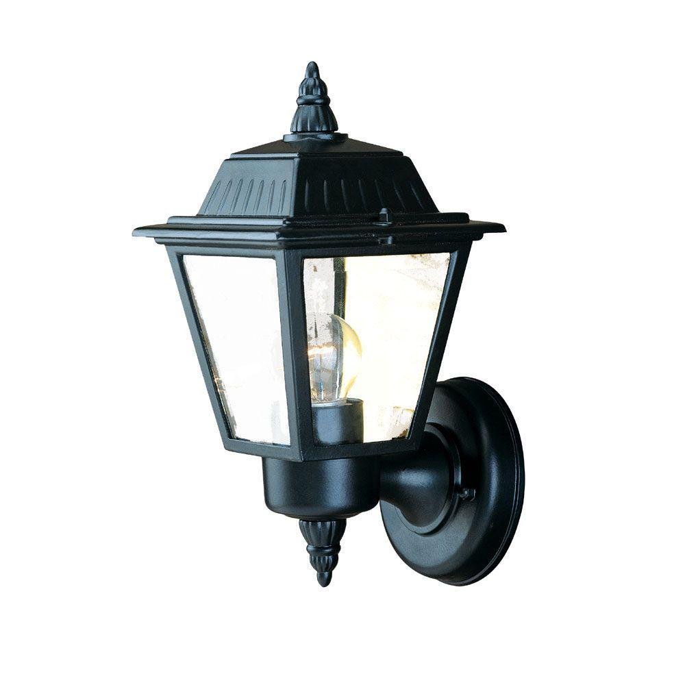 Acclaim Lighting Builder's Choice Collection 1-Light Matte Black Outdoor Wall-Mount Light Fixture