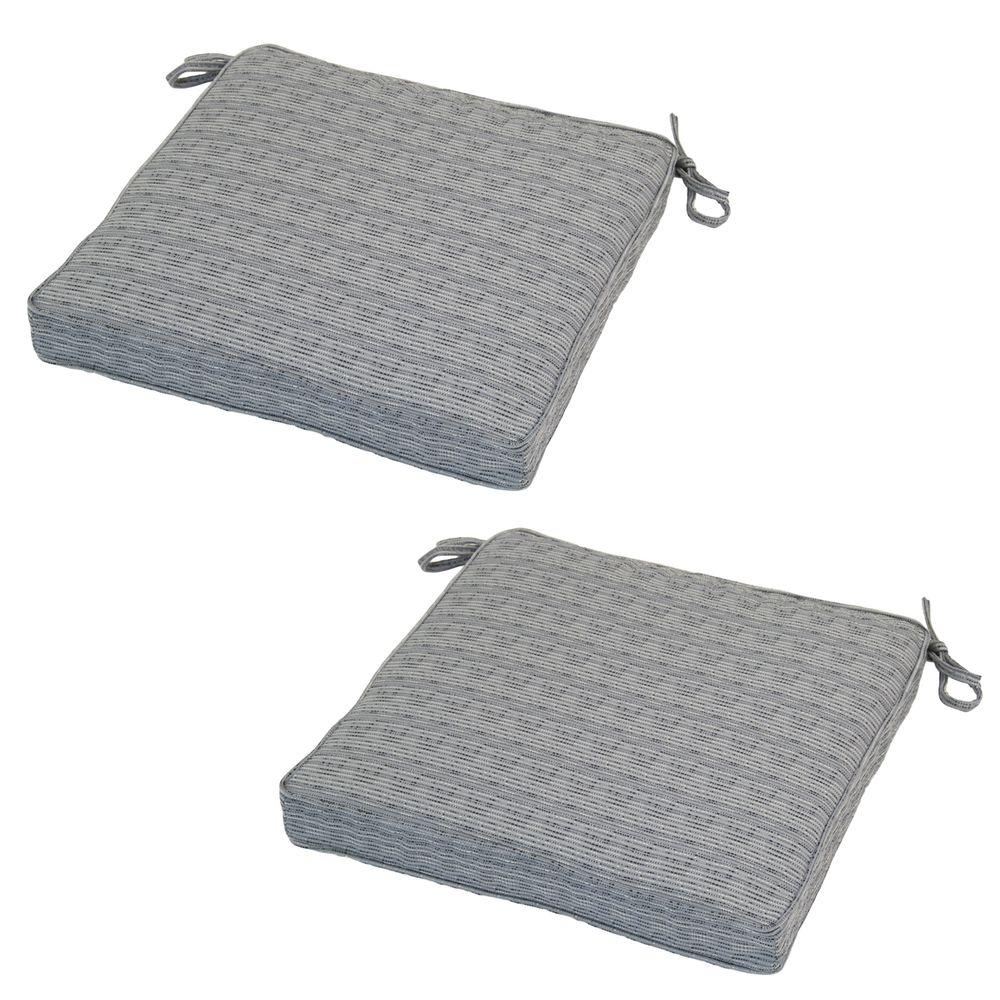 Cement Texture Deluxe Square Outdoor Seat Cushion (2-Pack)