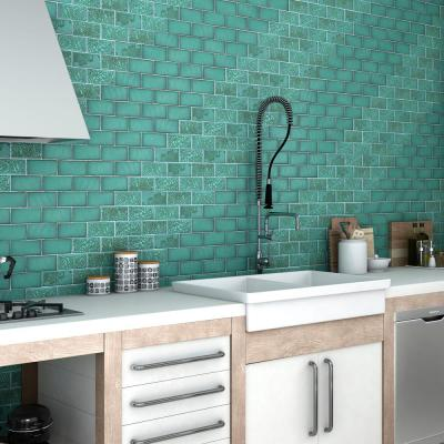 Turquoise Subway Tile Flooring The Home Depot