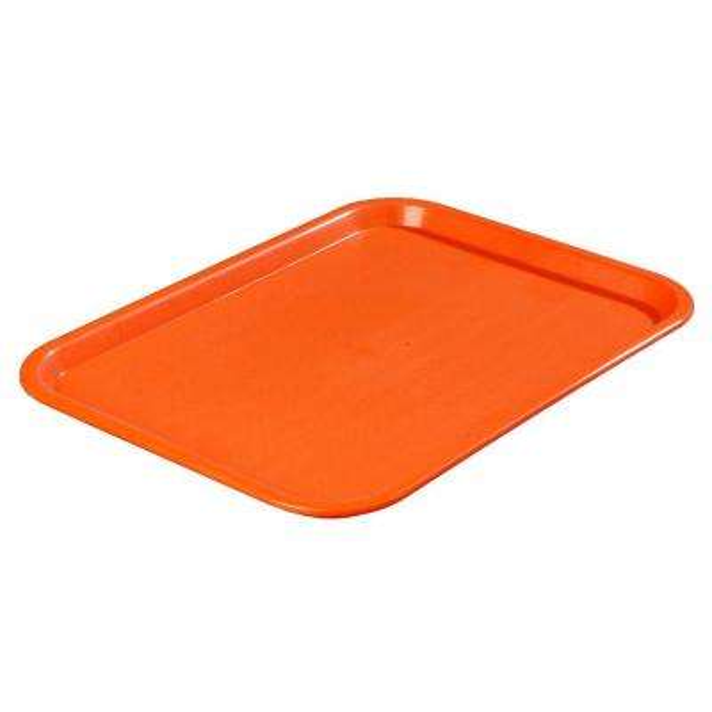 14 in. x 18 in. Polypropylene Tray in Orange (Case of 12)