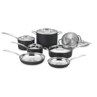 MultiClad Unlimited 12-Piece Black Cookware Set with Lids