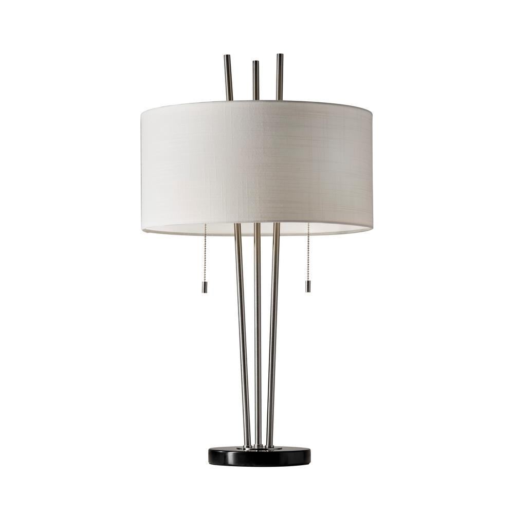 Adesso Anderson 28 in. Brushed Steel Table Lamp