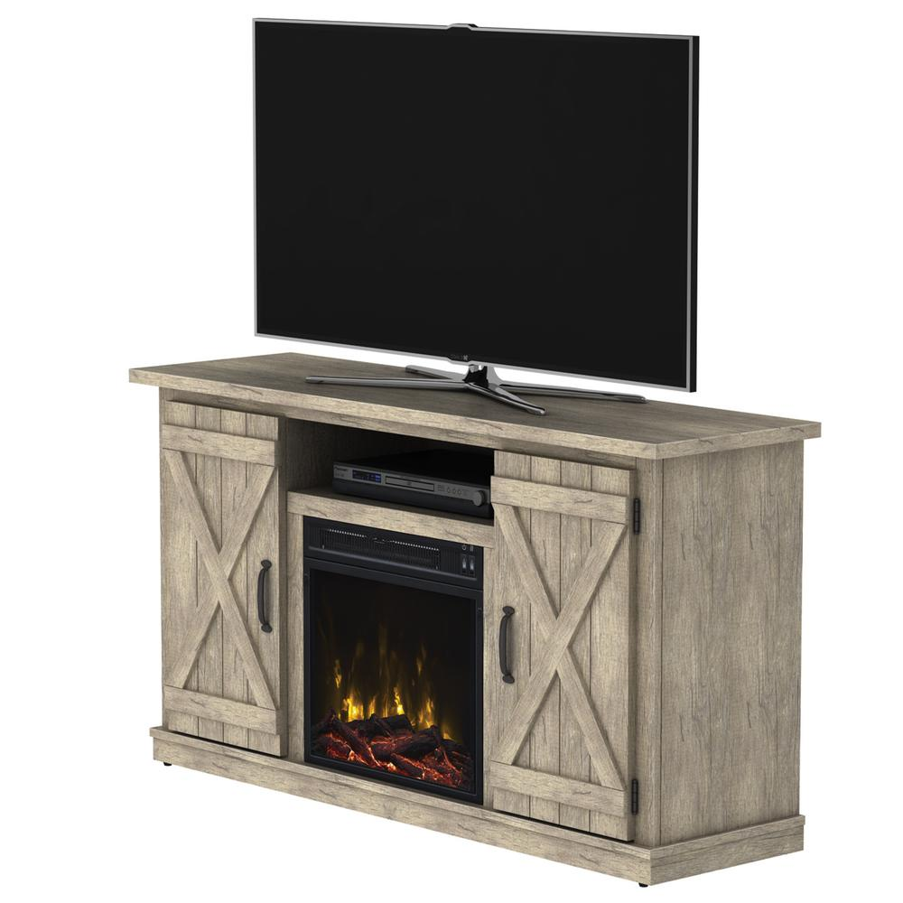 Cottonwood 47.50 in. Media Console Electric Fireplace in Ashland Pine Light