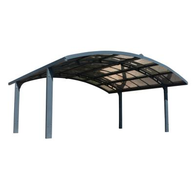 Arizona 19 ft. x 16 ft. 3 in. x 9 ft. H Double Carport Breeze Arch with Solid Solar Gray Polycarbonate Roof Panels
