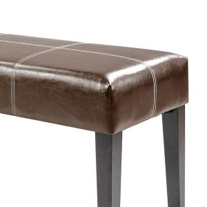 Superb Corliving Antonio 47 Dark Brown Bonded Leather Bench Lad Caraccident5 Cool Chair Designs And Ideas Caraccident5Info