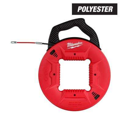 100 ft. Polyester Fish Tape with Flexible Metal Leader