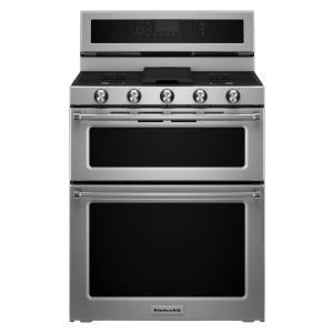 KitchenAid 30 inch 6.7 cu. ft. Double Oven Dual Fuel Range with Self-Cleaning Convection Oven in Stainless Steel by KitchenAid
