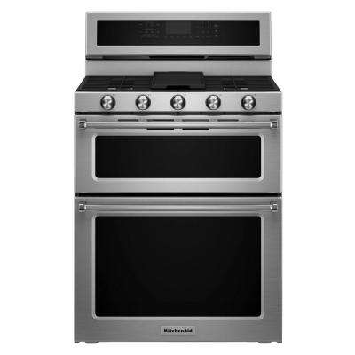 30 in. 6.7 cu. ft. Double Oven Dual Fuel Range with Self-Cleaning Convection Oven in Stainless Steel
