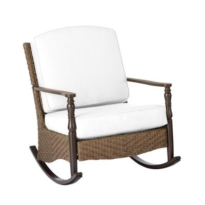 Bolingbrook Wicker Outdoor Rocking Chair with Cushions Included, Choose Your Own Color