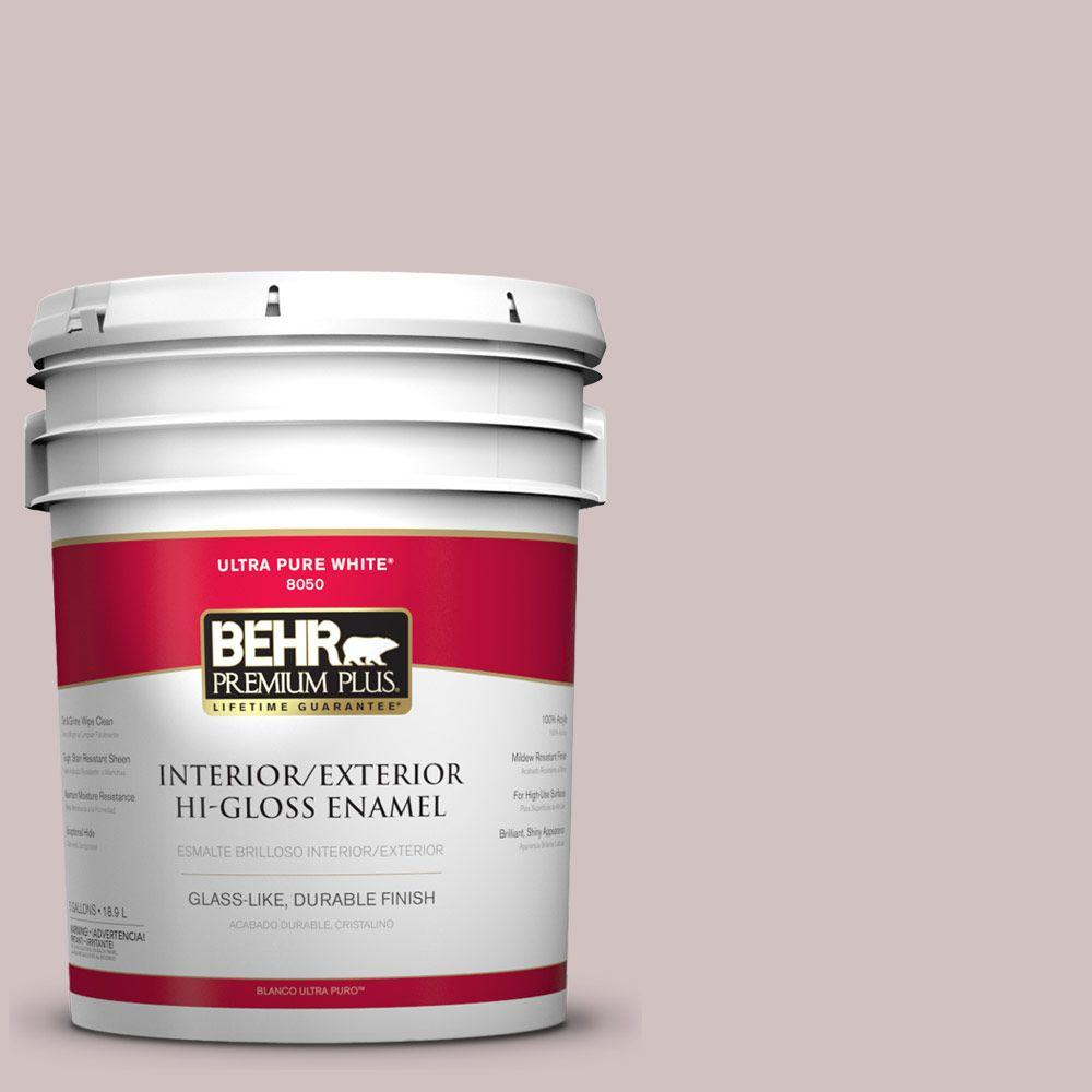 5-gal. #120E-2 French Taupe Hi-Gloss Enamel Interior/Exterior Paint