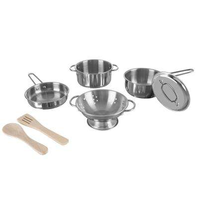 Pretend Play Stainless Pots and Pans Set