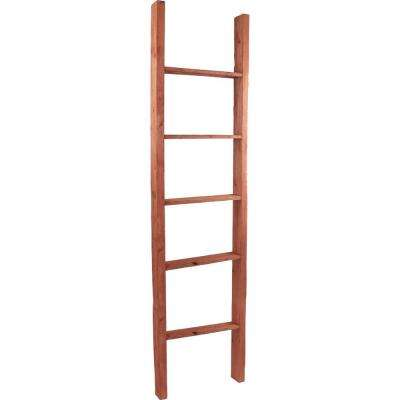 19 in. x 48 in. x 3 1/2 in. Barnwood Decor Collection Driftwood Blue Vintage Farmhouse 3-Rung Ladder