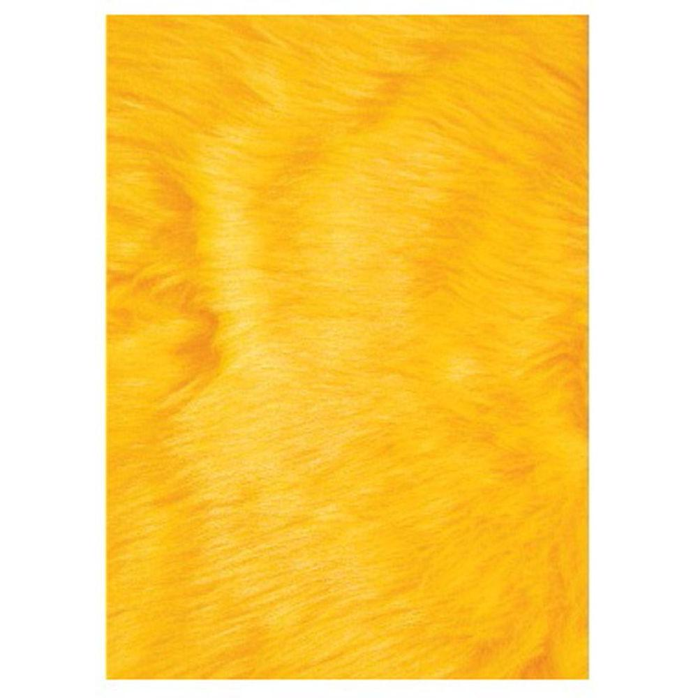 LA Rug Flokati Yellow 2 ft. 7 in. x 3 ft. 11 in. Accent Rug