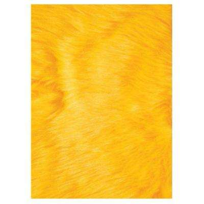 Flokati Yellow 2 ft. 7 in. x 3 ft. 11 in. Accent Rug