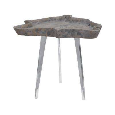 Jambi Aged Gray Wash Side Table