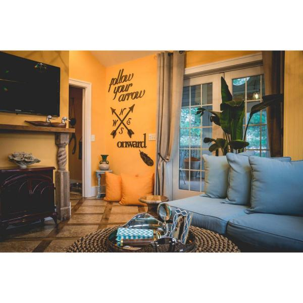 32-1/4 in. x 32-1/4 in. Crossed Arrows Wall Decal LET02289