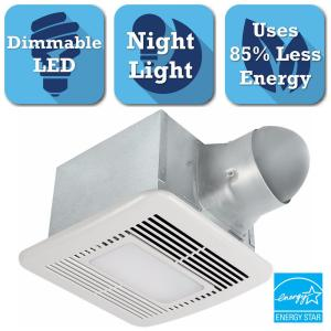 Delta Breez Signature Series 110 CFM Ceiling Bathroom Exhaust Fan with Dimmable LED Light, Night Light and... by Delta Breez