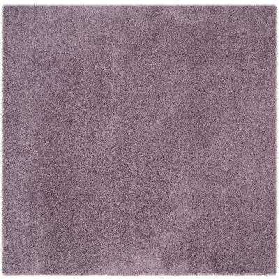 Laguna Shag Purple 7 ft. x 7 ft. Square Area Rug