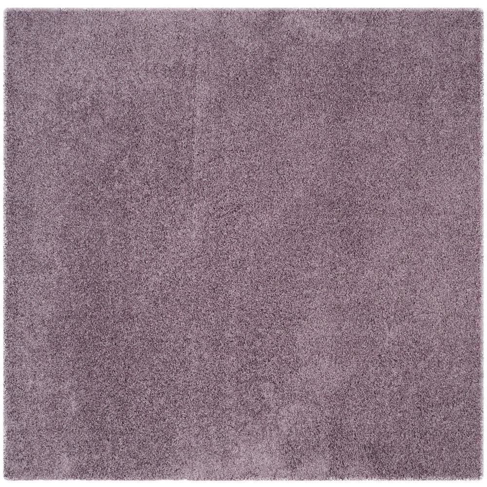 Laguna Shag Purple 7 ft. x 7 ft. Square Area Rug