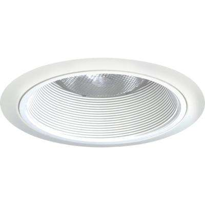 Contractor Select 6 in. New Construction or Remodel Recessed Downlight Tapered Baffle Trim