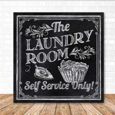 "16 in. x 16 in. ""Laundry room"" Canvas Printed Wall Art"