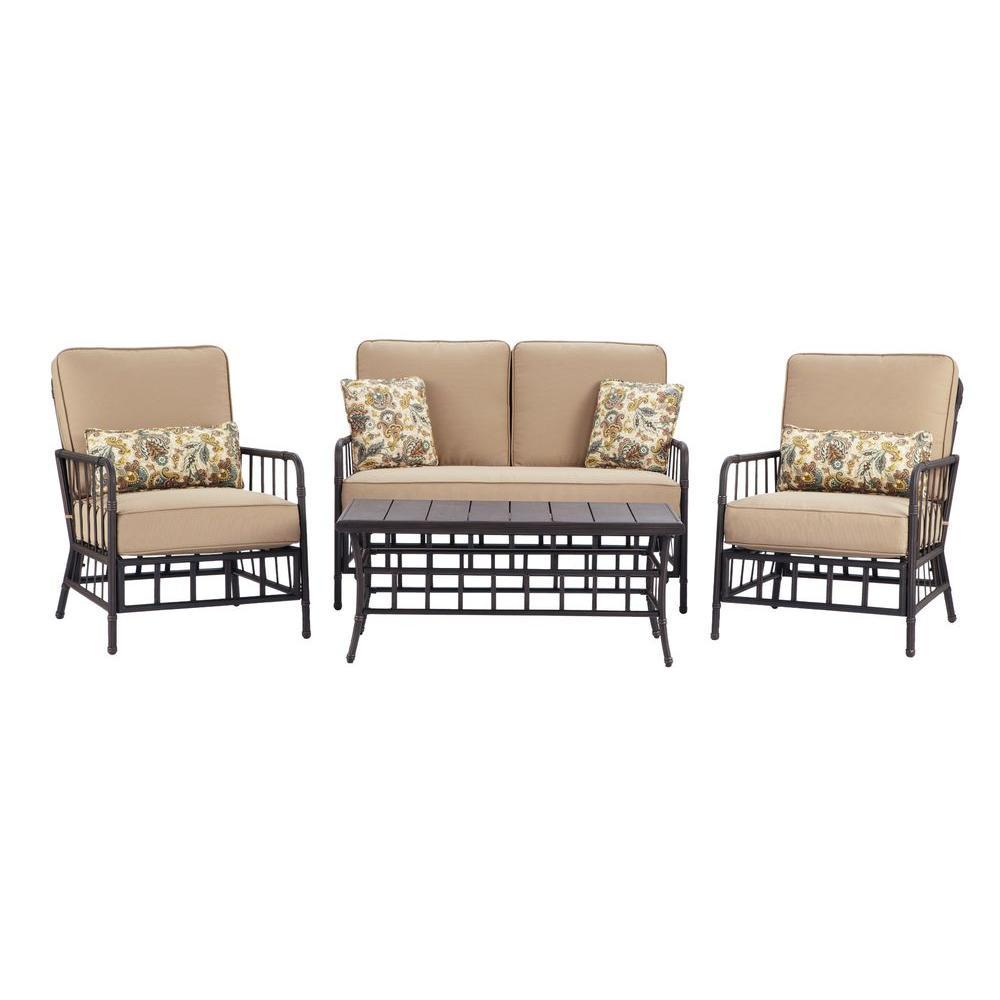 Martha Stewart Living Bryant Cove 4-Piece Patio Seating Set