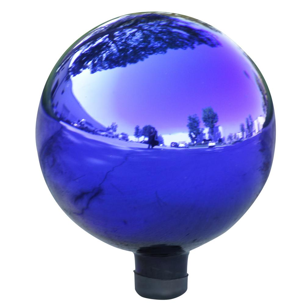 Electric Blue Glass Gazing Globe