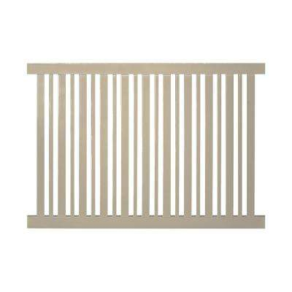 Beige Vinyl Fence Panels Vinyl Fencing The Home Depot