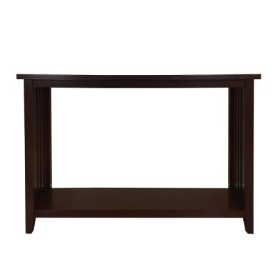 Brookdale 48 in. Dark Walnut Standard Rectangle Wood Console Table with Storage