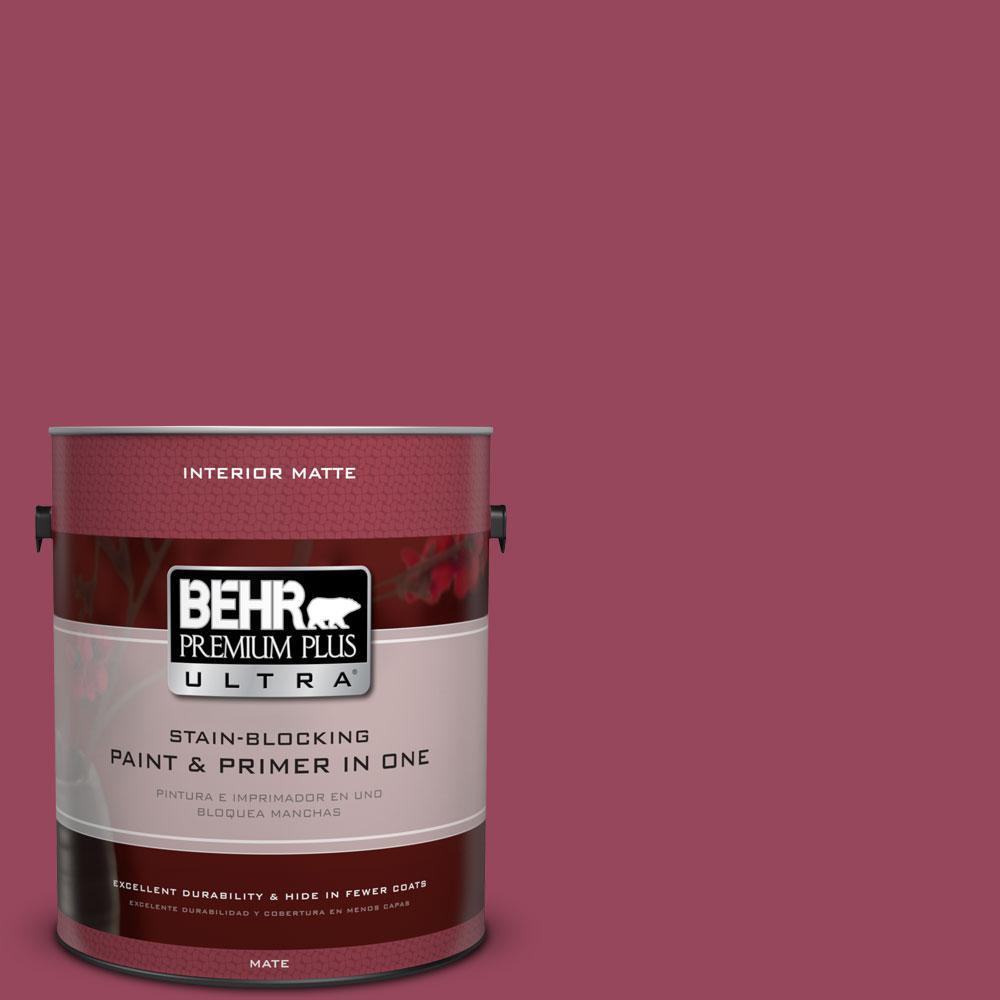 BEHR Premium Plus Ultra 1 gal. #PPU1-16 Haitian Flower Flat/Matte Interior Paint