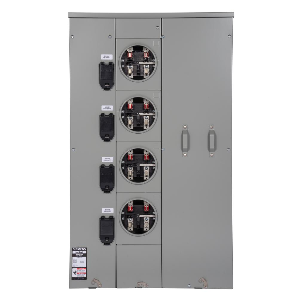 Siemens uni pak 4 gang 225 amp tenant main breaker meter socket siemens uni pak 4 gang 225 amp tenant main breaker meter socket wp4412rj the home depot greentooth Choice Image