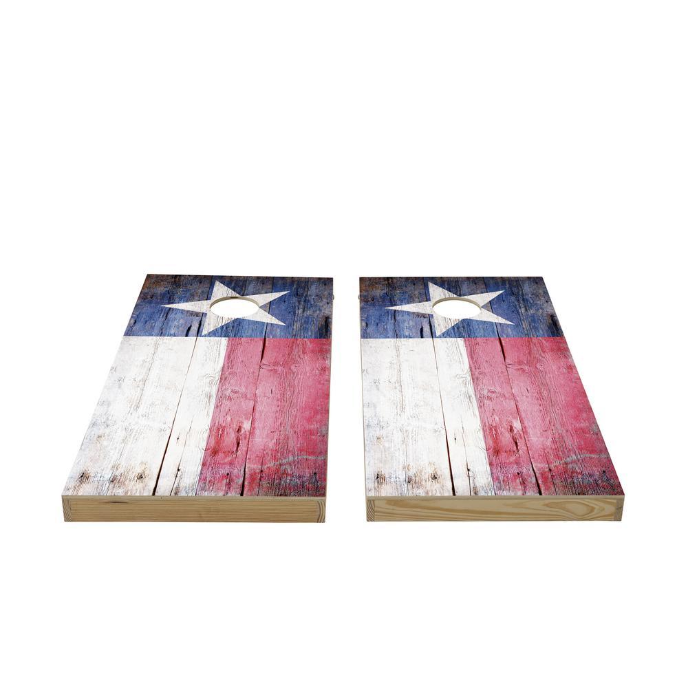 Texas Flag Wood Cornhole Set